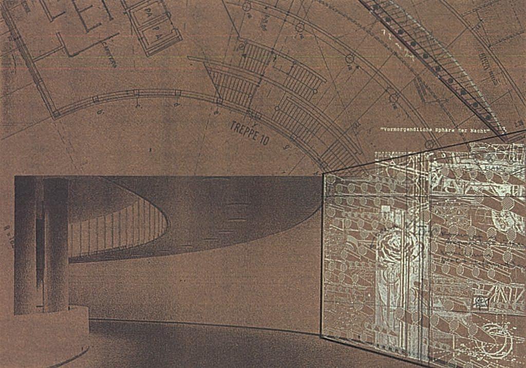 Igor Sacharow-Ross, concept sketch: vormorgentliche Sphäre der Nacht, 1994
